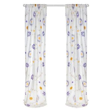 Fiona Floral Drapery Panels, 90