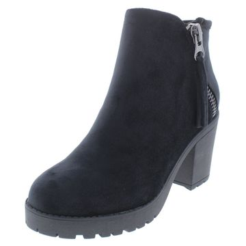 Call It Spring Womens Jolles Velvet Round Toe Ankle Boots