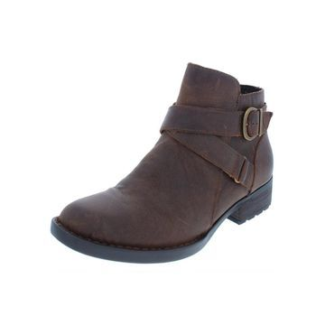 Born Womens Chaval Booties Leather Ankle
