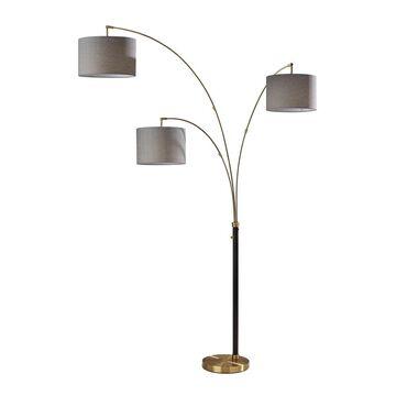 Adesso Bergen Black Antique Brass 3-Arm Arc Lamp