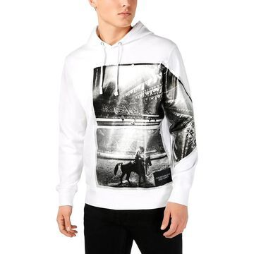 Calvin Klein Jeans Mens Rodeo Hoodie Graphic Active