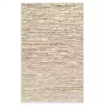 Loloi Rugs Edge 3'6 x 5'6 Handwoven Area Rug in Ivory
