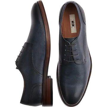 Joseph Abboud Men's Saffiano Blue Plain Toe Derbys - Size: 10.5 D-Width