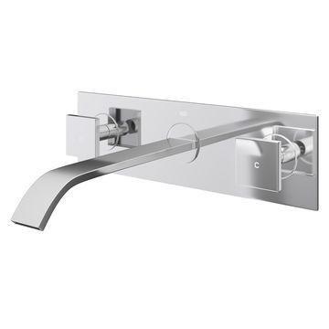 VIGO Titus Chrome Wall Mount Bathroom Faucet