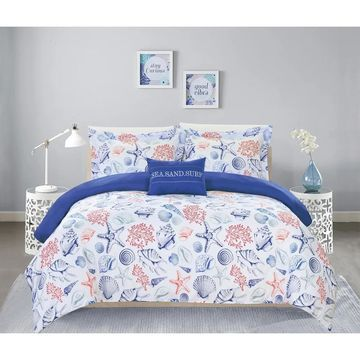 Chic Home Veluz 8 Piece Reversible Bed in a Bag Duvet Cover Set (King)