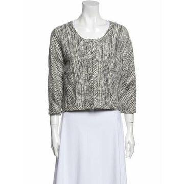 Tweed Pattern Evening Jacket w/ Tags Grey
