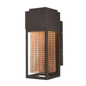 Maxim Lighting Townhouse 12-in H Galaxy Bronze/Rose Gold Dark Sky Integrated Outdoor Wall Light