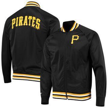 Mitchell & Ness Pittsburgh Pirates Black Top Prospect Raglan Full-Zip Jacket