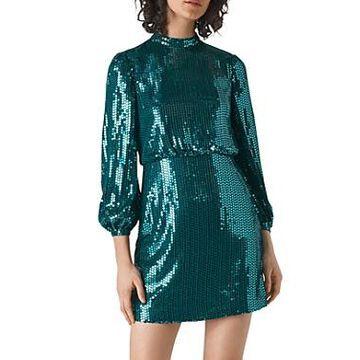 Whistles Dena Sequined Mini Dress