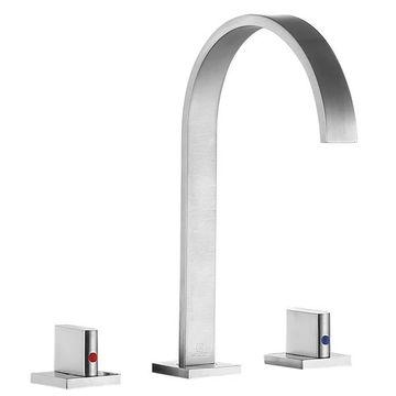 ANZZI Sabre 8 In. Widespread 2-handle Bathroom Faucet In Brushed Nicke