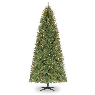 9Ft Pre-Lit Quick Set Willow Pine Artificial Christmas Tree, Clear Lights by Ashland   Michaels