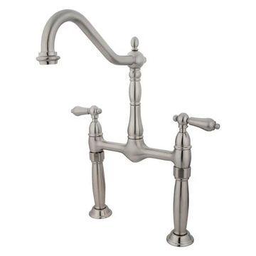Kingston Brass Victorian Vessel Faucet, Brushed Nickel