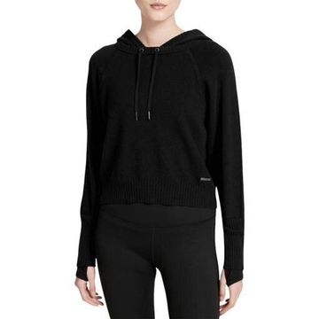 Calvin Klein Performance Womens Cropped Sweater Hoodie