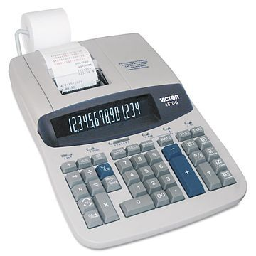 Victor 1570-6 Two-Color Ribbon Printing Calculator Black/Red Print 5.2 Lines/Sec