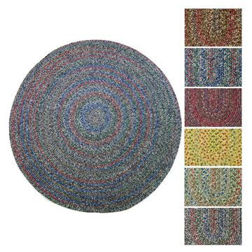 Rhody Rug Sophia Indoor/ Outdoor Braided Reversible Round Rug (6' x 6') - 6' Round