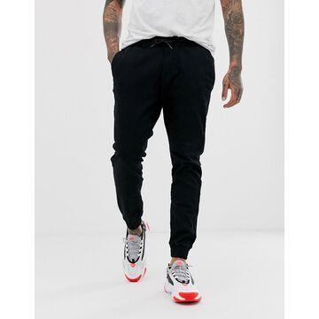 Bershka chino sweatpants in black