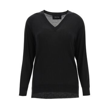 SIMONE ROCHA SWEATER WITH CUT-OUT ELBOWS M Black Wool, Silk