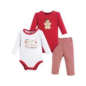 Luvable Friends Girls' Infant Bodysuits Sugar - Sugar & Spice Bodysuit & Pants Set - Newborn & Infant