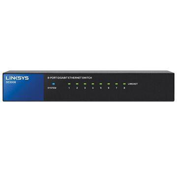 Linksys SE3008 8-Port RJ-45 Unmanaged Ethernet Switch