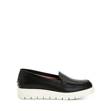 Aquatalia Women's Kyleigh Studded Leather Platform Loafers