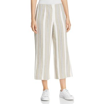 Lafayette 148 New York Womens Casual Linen Cropped Pants