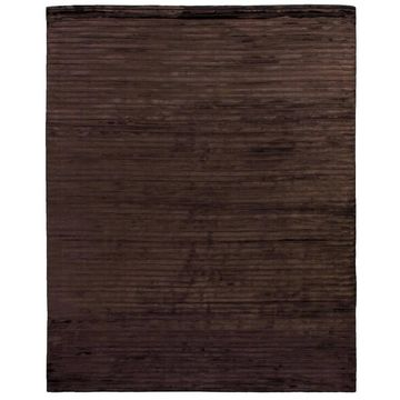 Exquisite Rugs High Low Chocolate Viscose Rug - 10' x 14'