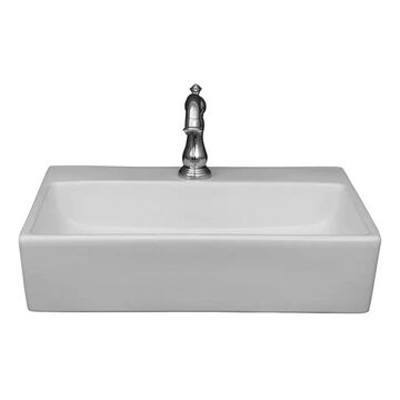Barclay Leanne Wall-Hung Basin White Wall-Mount Rectangular Bathroom Sink (14.25-in x 20.12-in)   4-9064WH