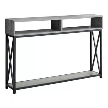 Monarch X-Frame Console Table, Grey