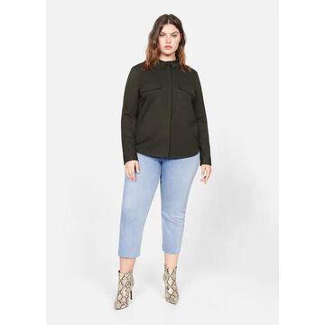 Violeta BY MANGO - Flap pocketed shirt khaki - 10 - Plus sizes