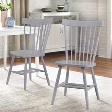 Simple Living Venice Farmhouse Dining Chairs (Set of 2) (Grey)