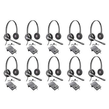 Plantronics SupraPlus HW261N with M22 Amplifier-10pack Dual Earpiece Wideband Headset