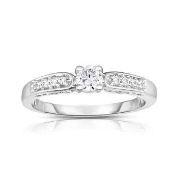 Noray Designs 14k Gold 1/3ct TDW White Diamond Engagement Ring