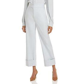 Alberta Ferretti High Waist Cropped Trousers