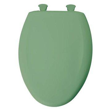 Bemis 1200SLOWT 025 Plastic Elongated Slow-Close Toilet Seat, Jade