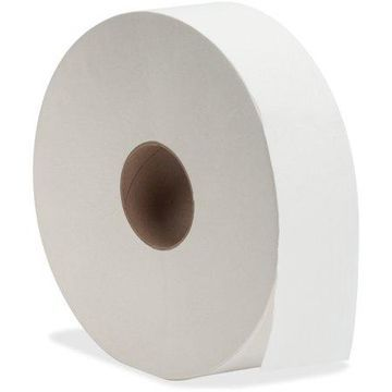Genuine Joe Jumbo Jr Dispenser Bath Tissue Roll, White, 6 / Carton (Quantity)