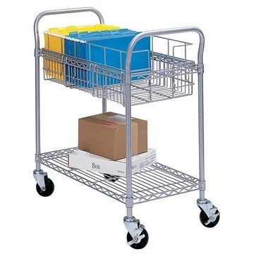 Safco Grey 24-inch Mail Cart (Grey)