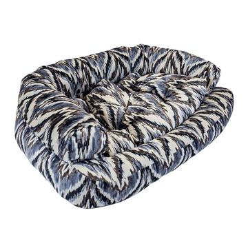 Snoozer Luxury Overstuffed Pet Sofa in Tempest Indigo