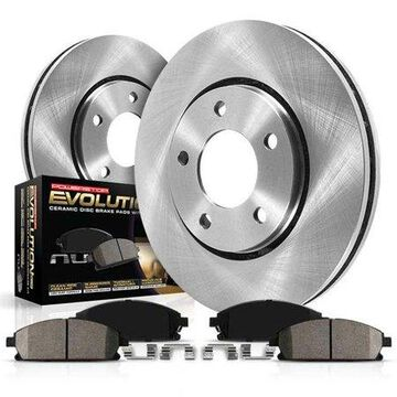 Power Stop Rear Stock Replacement Brake Pad and Rotor Kit KOE4636