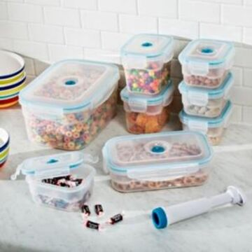 Honey Can Do Vac N Save 17-Pc. Rectangular Food Storage Set