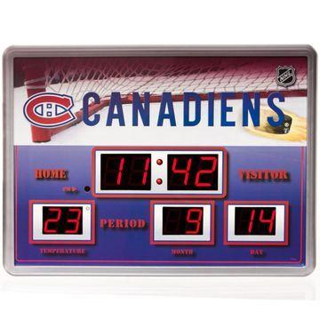 Montreal Canadiens 14'' x 19'' Scoreboard Clock