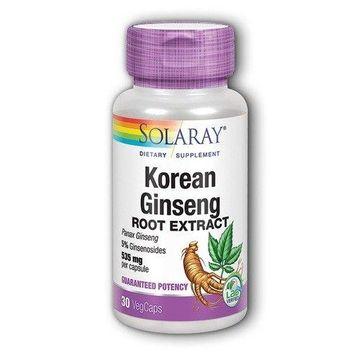 Korean Ginseng Root Extract 535mg Solaray 60 VCaps