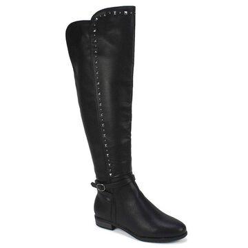 Rialto Womens Ferrell Leather Almond Toe Knee High Fashion Boots