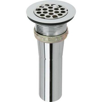 Elkay LK9 Elkay Drain Fitting Type 304 Stainless Steel Body, Grid Strainer and Brass Tailpiece