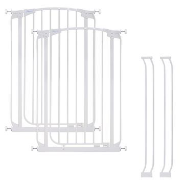Dreambaby& Chelsea Tall Auto Close Stay Open Security Gate in White (Set of 2)