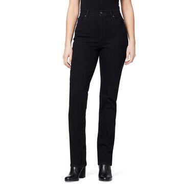 Petite Gloria Vanderbilt Amanda Embellished Tapered Jeans