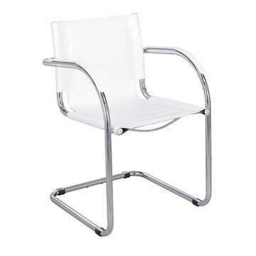 Safco Flaunt White Leather Guest Chair (White Leather)