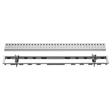 Schluter Systems Kerdi-Line Brushed Stainless Steel Stainless Steel Shower Drain   KL1BL19EB110