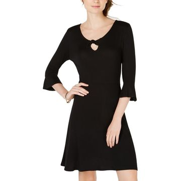 Ultra Flirt Womens Juniors Mini Keyhole Sheath Dress