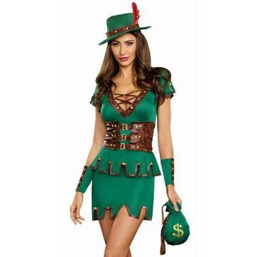 Dreamgirl Women's Robbin' Da Hood Fairytale Costume Dress