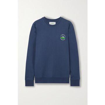 Casablanca - Embroidered Cotton-jersey Sweatshirt - Navy